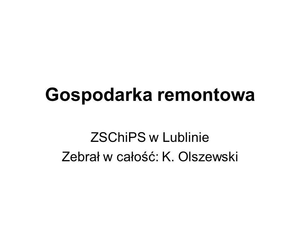 ZSChiPS w Lublinie Zebrał w całość: K. Olszewski