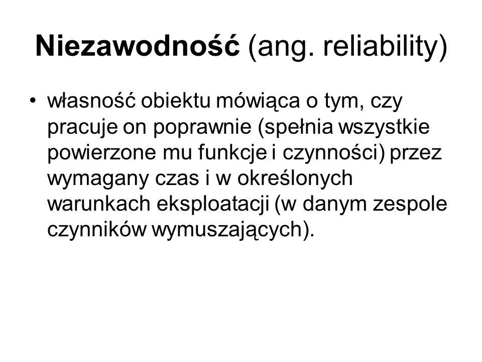 Niezawodność (ang. reliability)