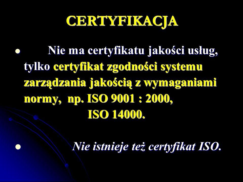 CERTYFIKACJA tylko certyfikat zgodności systemu