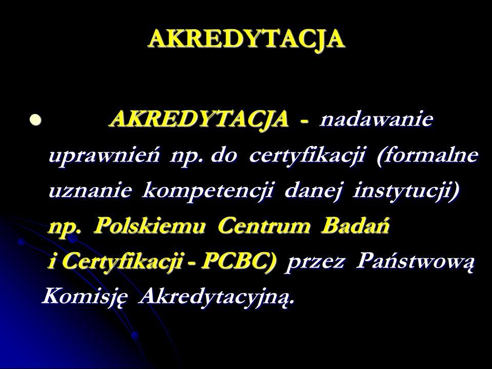 AKREDYTACJA AKREDYTACJA - nadawanie