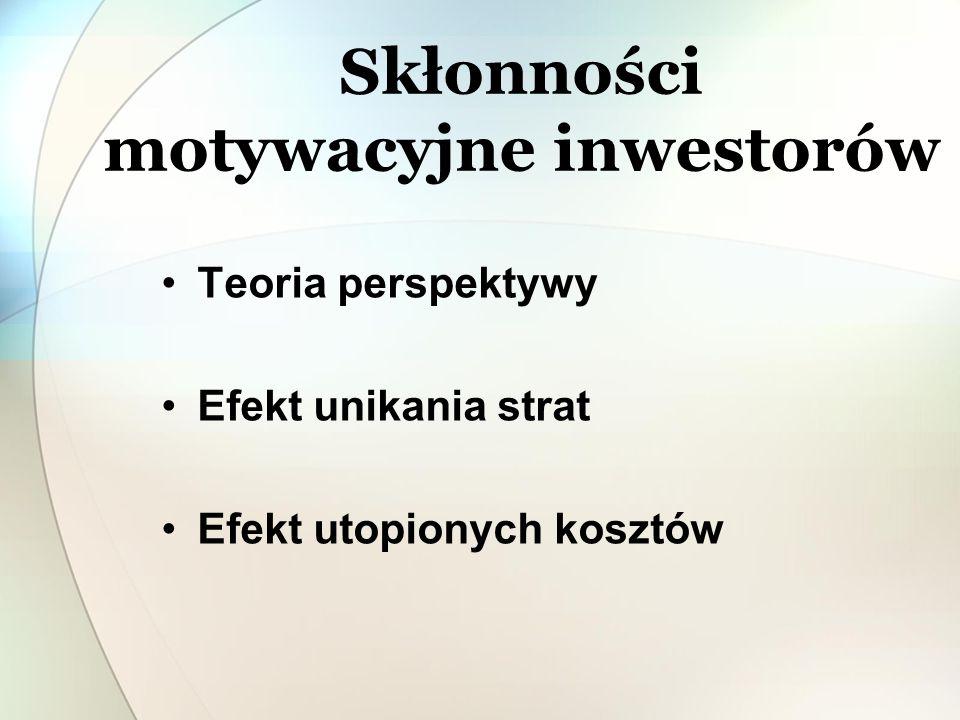 Skłonności motywacyjne inwestorów