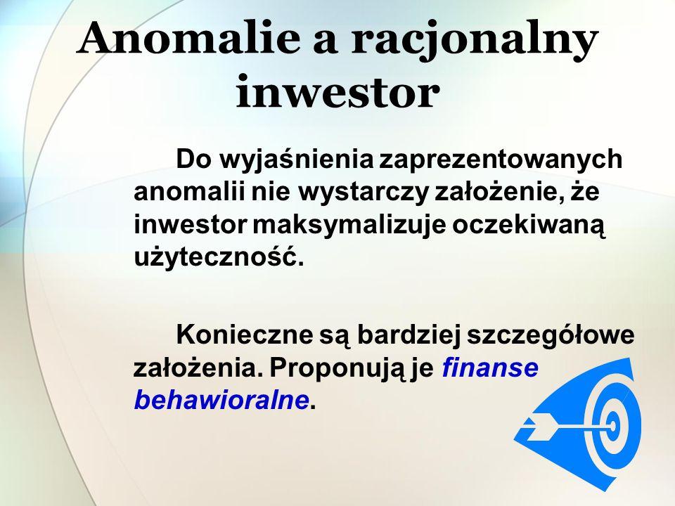 Anomalie a racjonalny inwestor