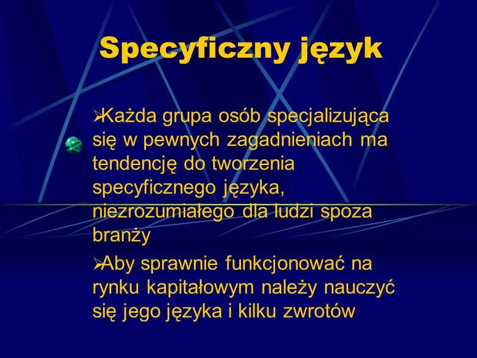 Specyficzny język