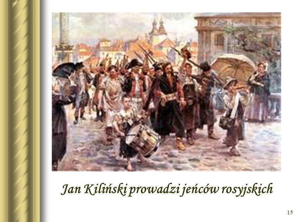 Jan Kiliński prowadzi jeńców rosyjskich