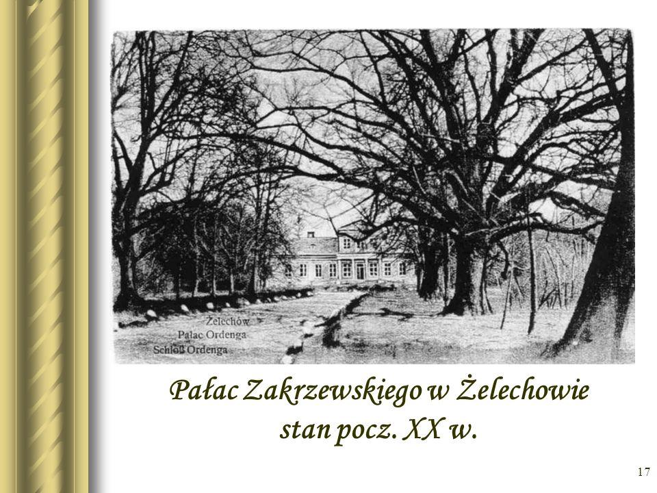 Pałac Zakrzewskiego w Żelechowie stan pocz. XX w.