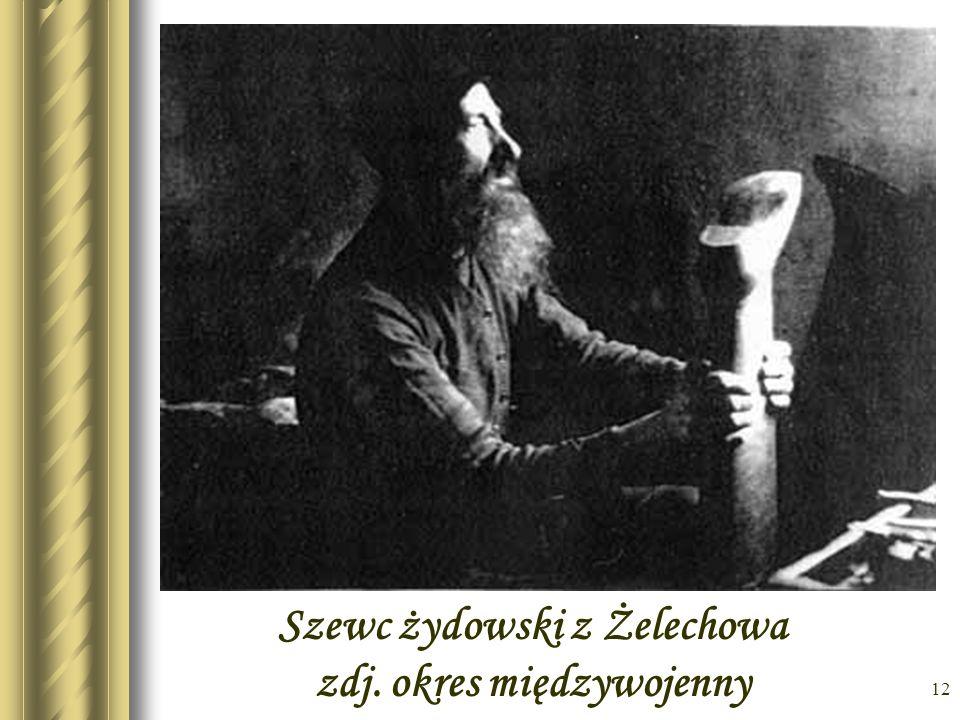 Szewc żydowski z Żelechowa zdj. okres międzywojenny
