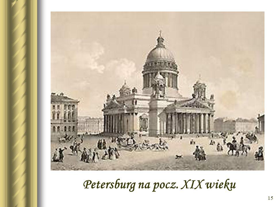 Petersburg na pocz. XIX wieku