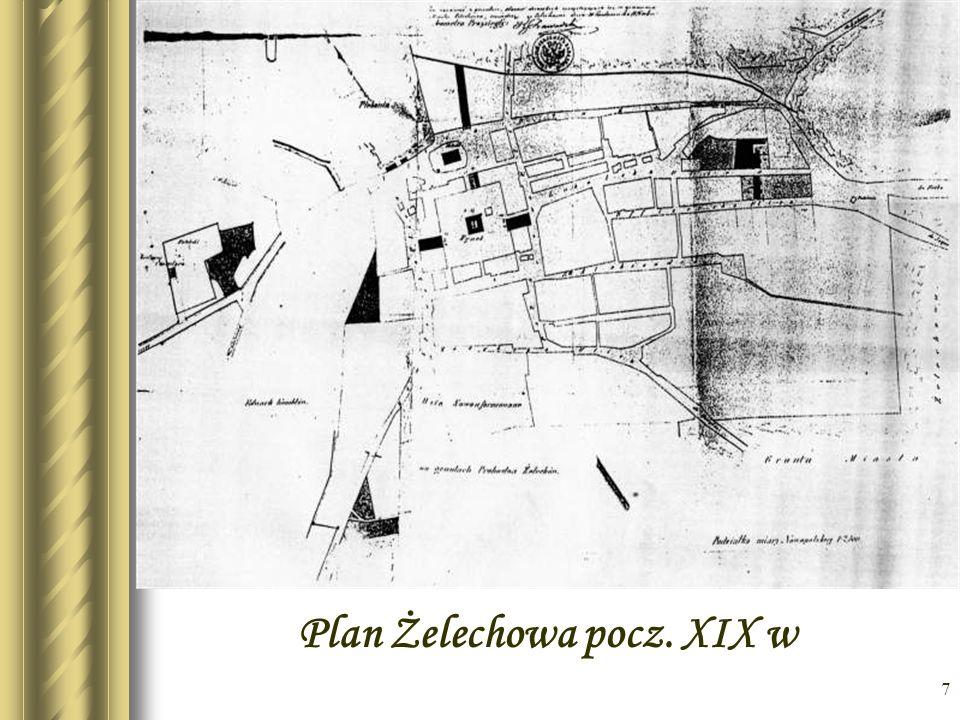 Plan Żelechowa pocz. XIX w