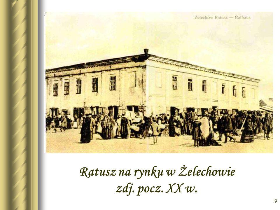 Ratusz na rynku w Żelechowie zdj. pocz. XX w.
