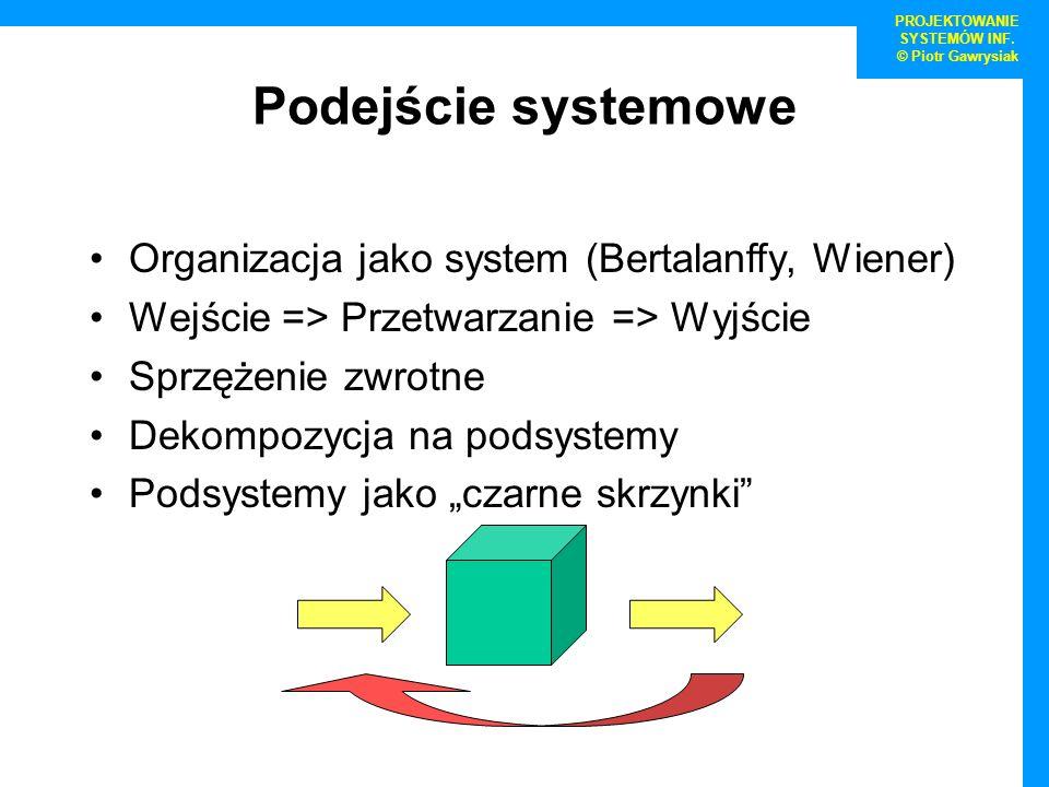 PROJEKTOWANIE SYSTEMÓW INF.