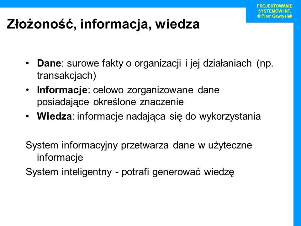Złożoność, informacja, wiedza