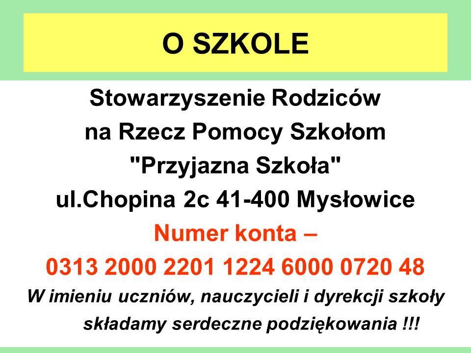 O SZKOLE Stowarzyszenie Rodziców na Rzecz Pomocy Szkołom