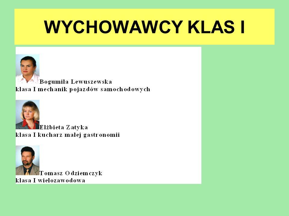 WYCHOWAWCY KLAS I