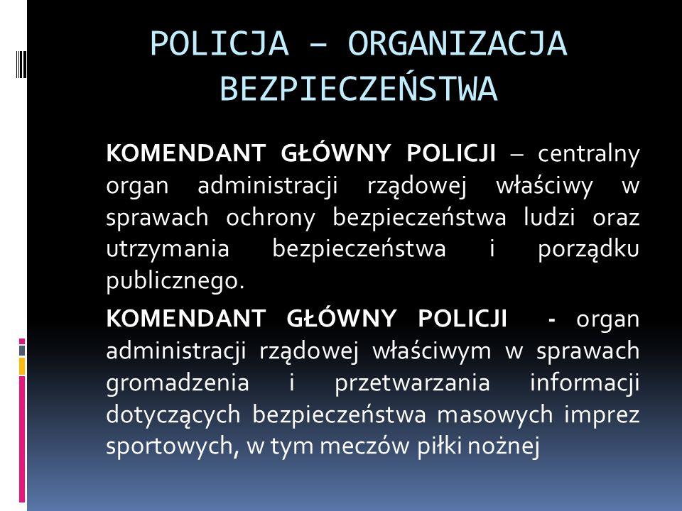 POLICJA – ORGANIZACJA BEZPIECZEŃSTWA