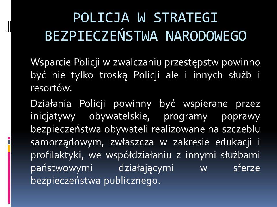 POLICJA W STRATEGI BEZPIECZEŃSTWA NARODOWEGO