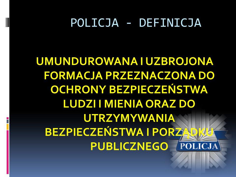 POLICJA - DEFINICJA