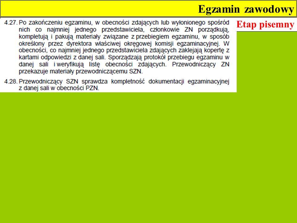 Egzamin zawodowy Etap pisemny 7