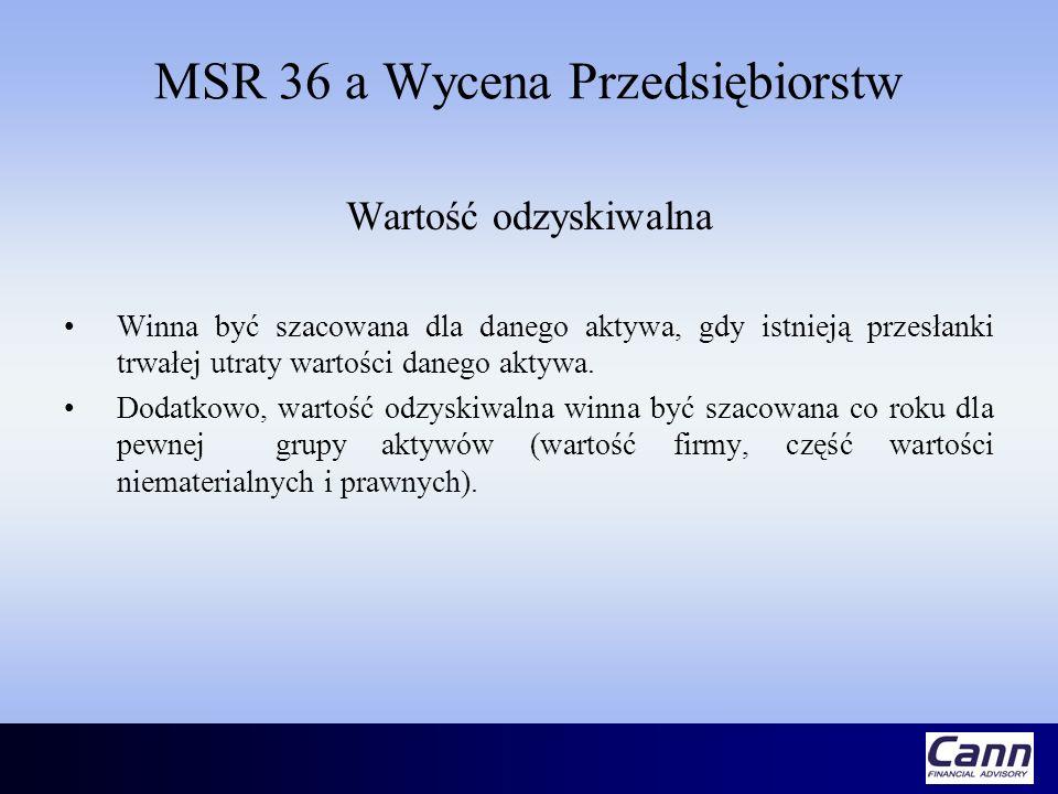 MSR 36 a Wycena Przedsiębiorstw