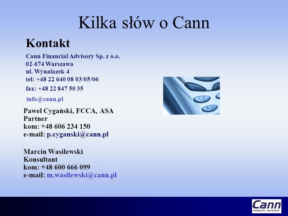 Kilka słów o Cann info@cann.pl