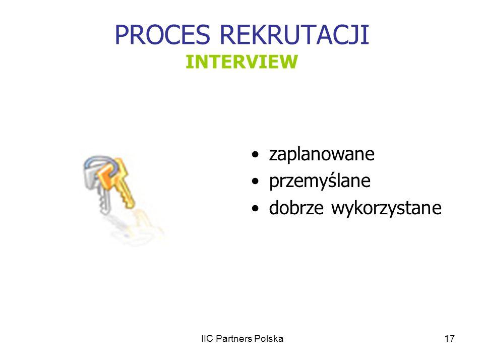 PROCES REKRUTACJI INTERVIEW