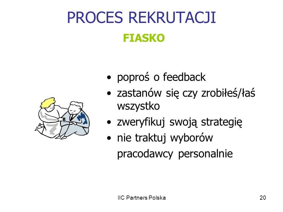 PROCES REKRUTACJI FIASKO