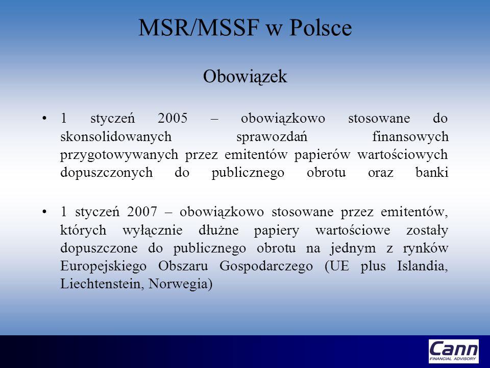 MSR/MSSF w Polsce Obowiązek