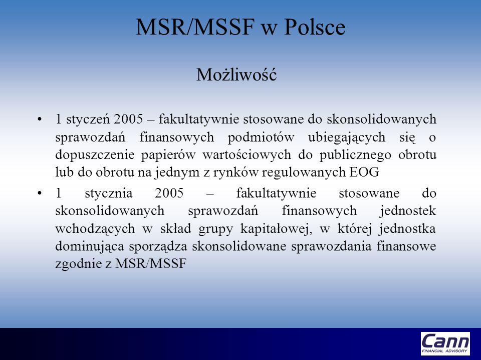 MSR/MSSF w Polsce Możliwość