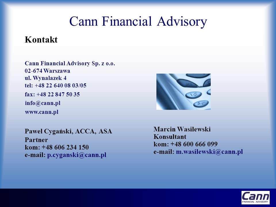 Cann Financial Advisory