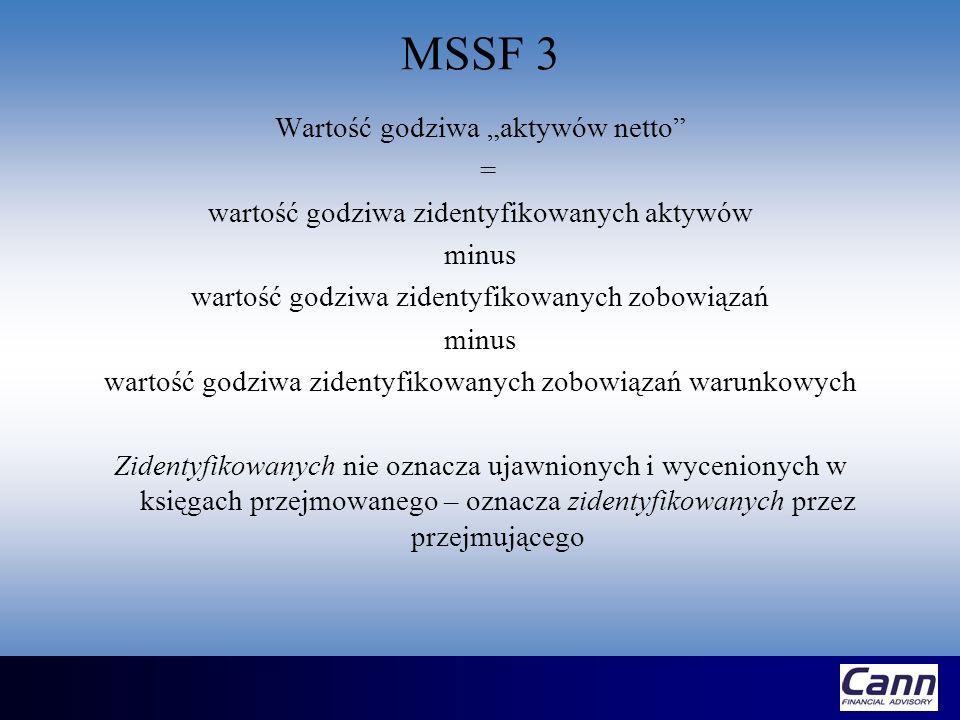 """MSSF 3 Wartość godziwa """"aktywów netto ="""