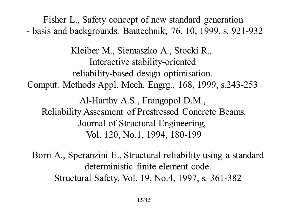 Fisher L., Safety concept of new standard generation
