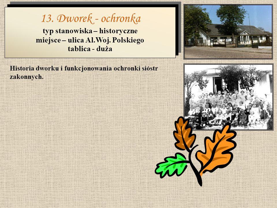 typ stanowiska – historyczne miejsce – ulica Al.Woj. Polskiego