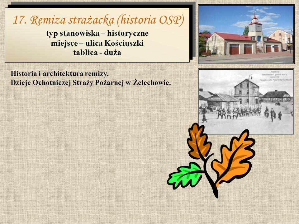 typ stanowiska – historyczne miejsce – ulica Kościuszki