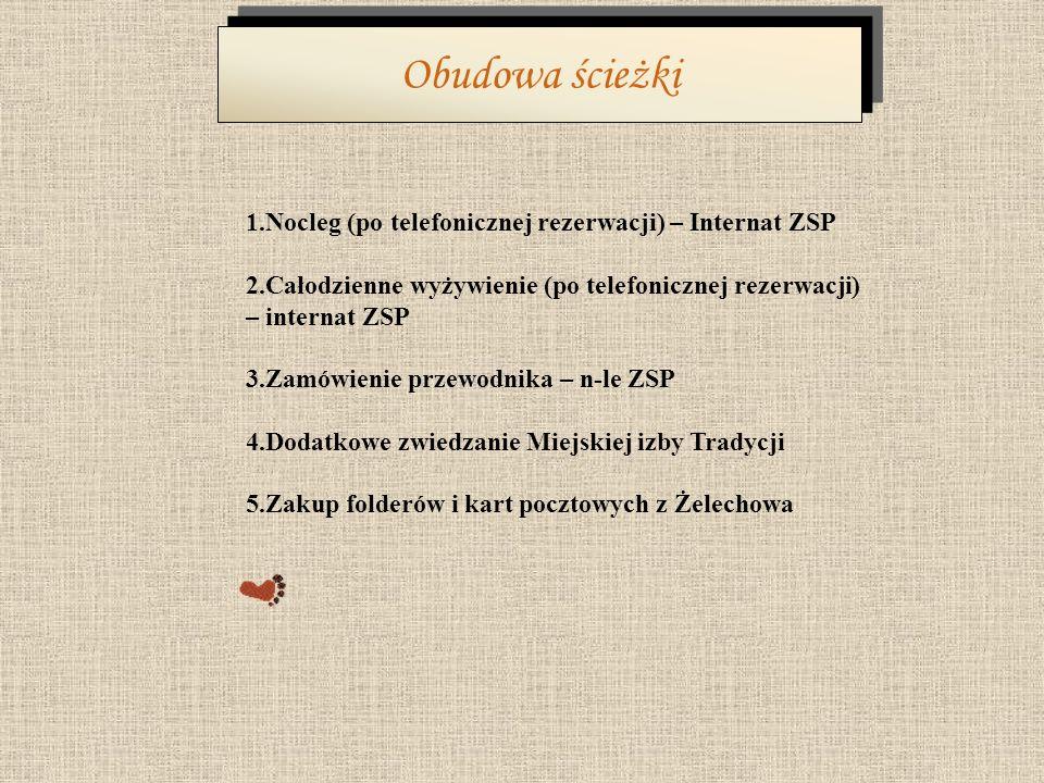Obudowa ścieżki 1.Nocleg (po telefonicznej rezerwacji) – Internat ZSP