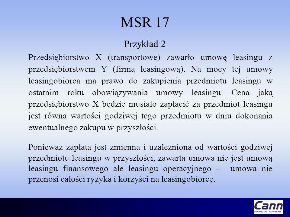 MSR 17 Przykład 2.