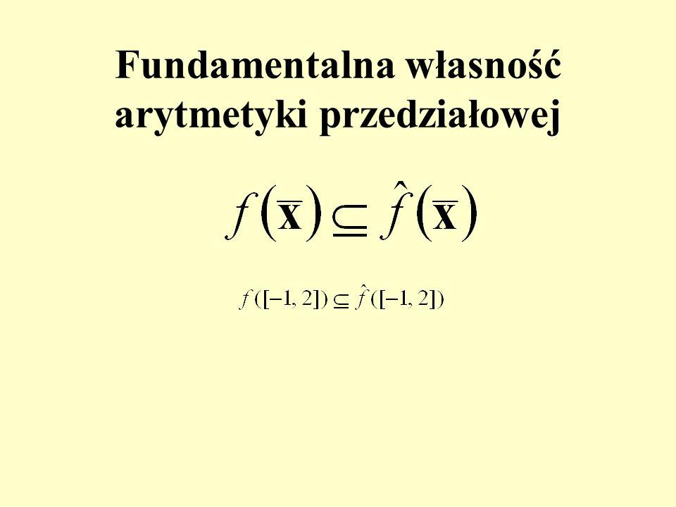 Fundamentalna własność arytmetyki przedziałowej