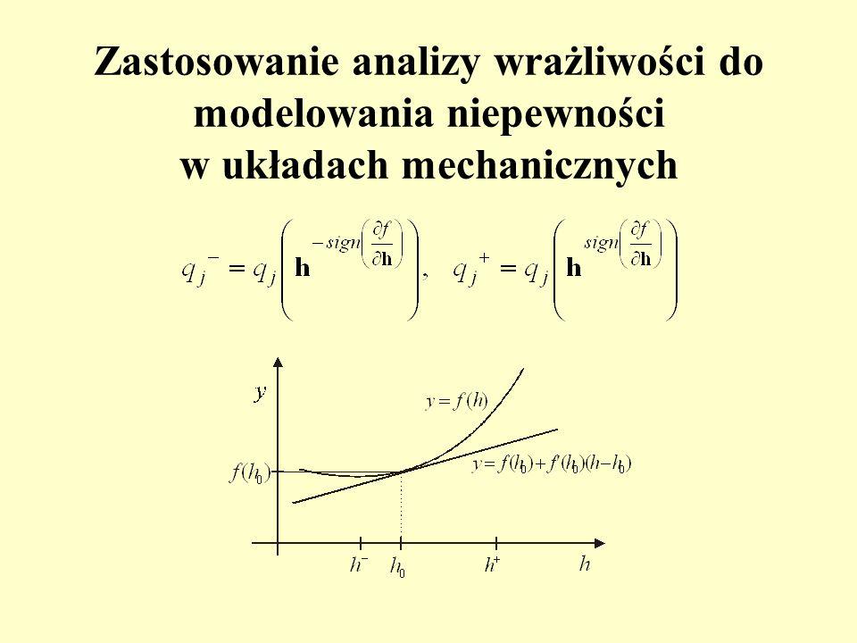 Zastosowanie analizy wrażliwości do modelowania niepewności w układach mechanicznych