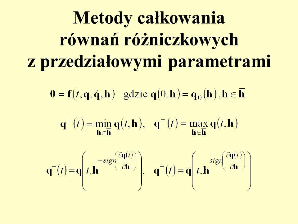 Metody całkowania równań różniczkowych z przedziałowymi parametrami