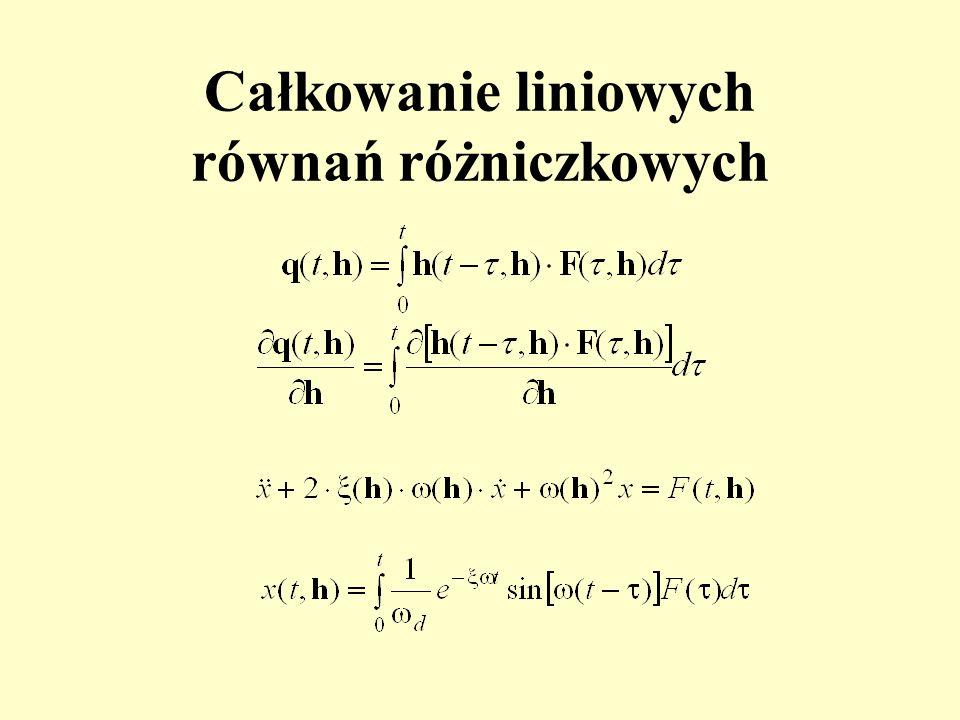 Całkowanie liniowych równań różniczkowych