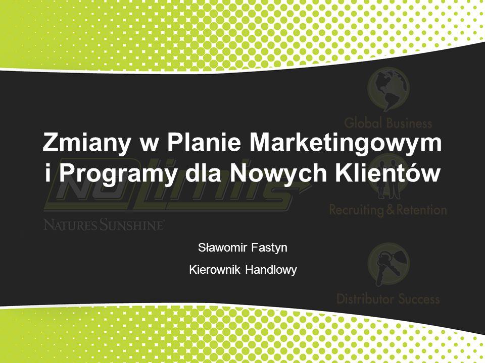 Zmiany w Planie Marketingowym i Programy dla Nowych Klientów