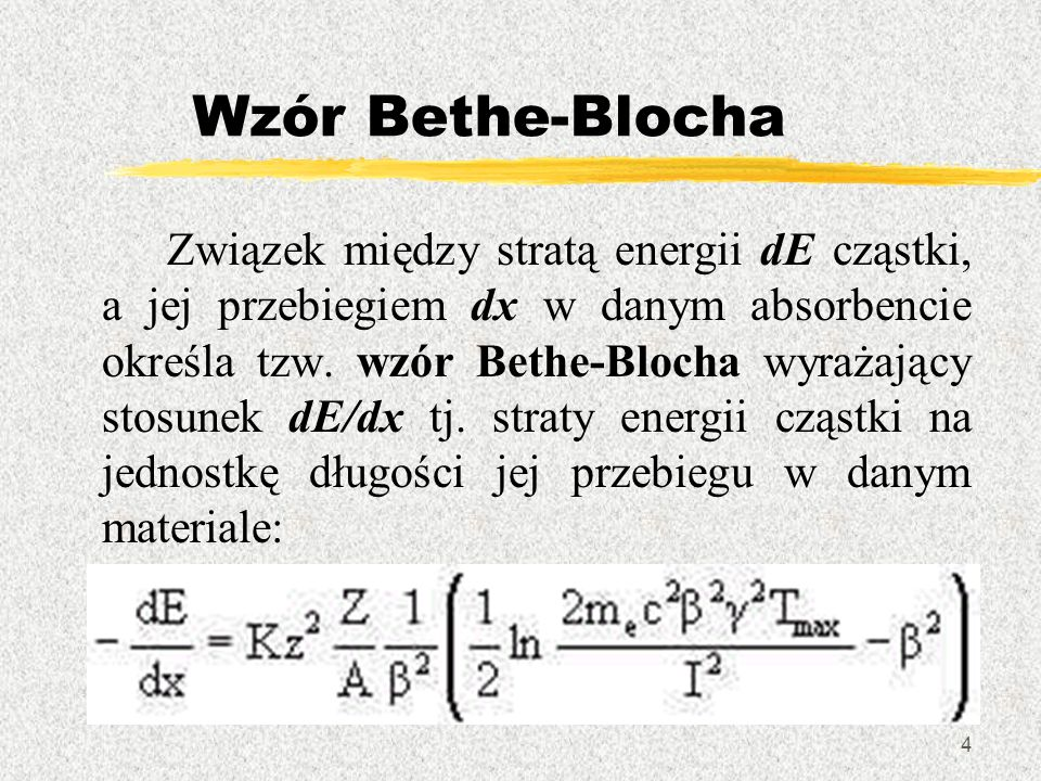 Wzór Bethe-Blocha