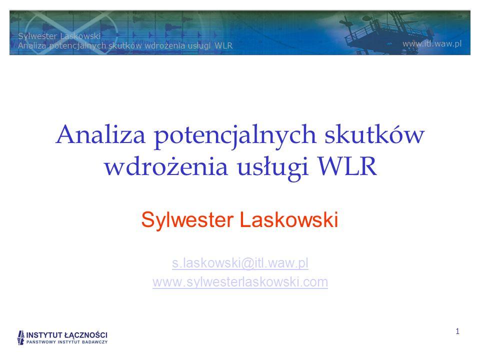 Analiza potencjalnych skutków wdrożenia usługi WLR
