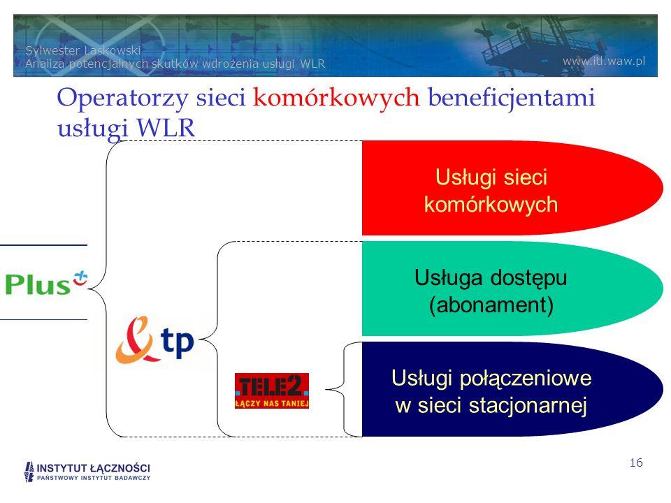 Operatorzy sieci komórkowych beneficjentami usługi WLR