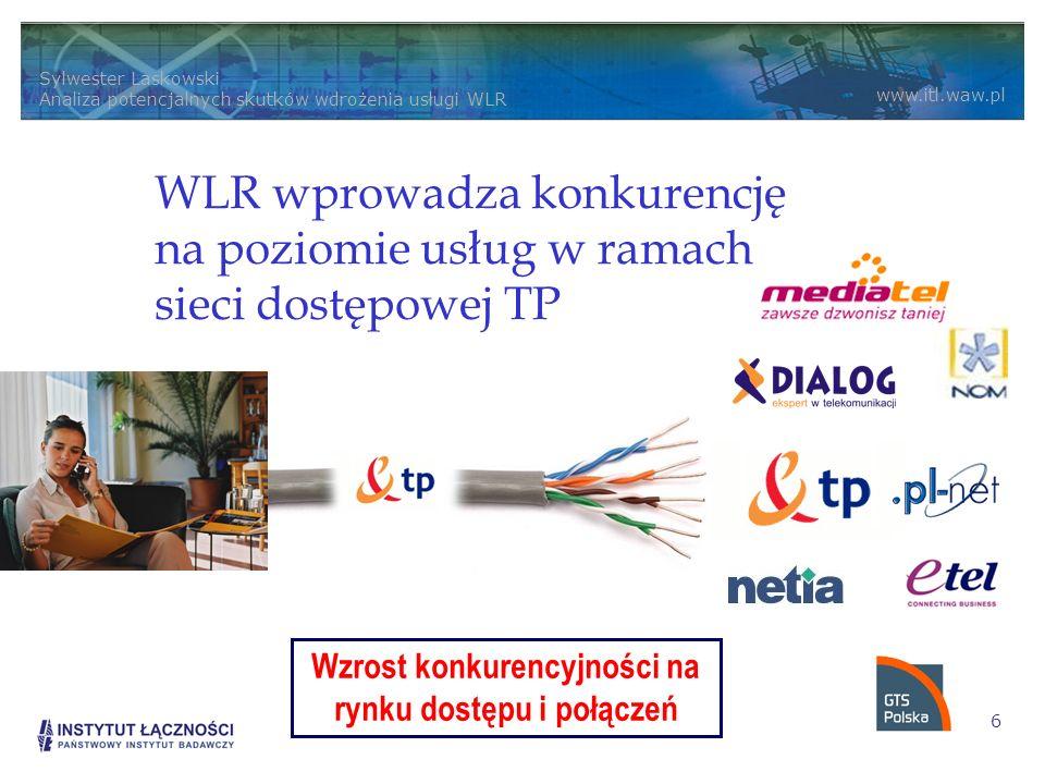 Wzrost konkurencyjności na rynku dostępu i połączeń