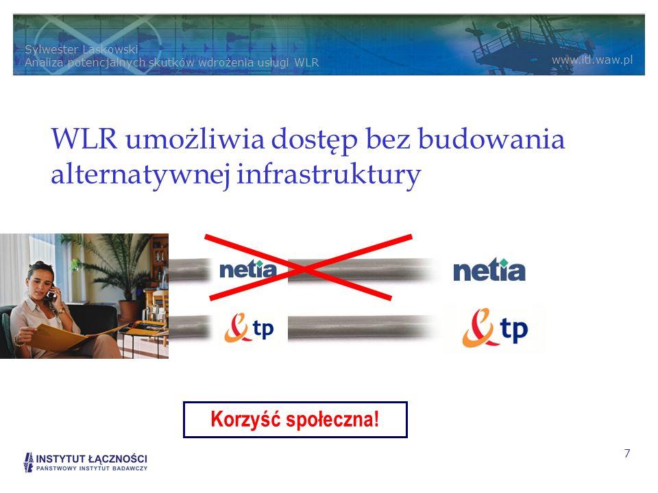 WLR umożliwia dostęp bez budowania alternatywnej infrastruktury