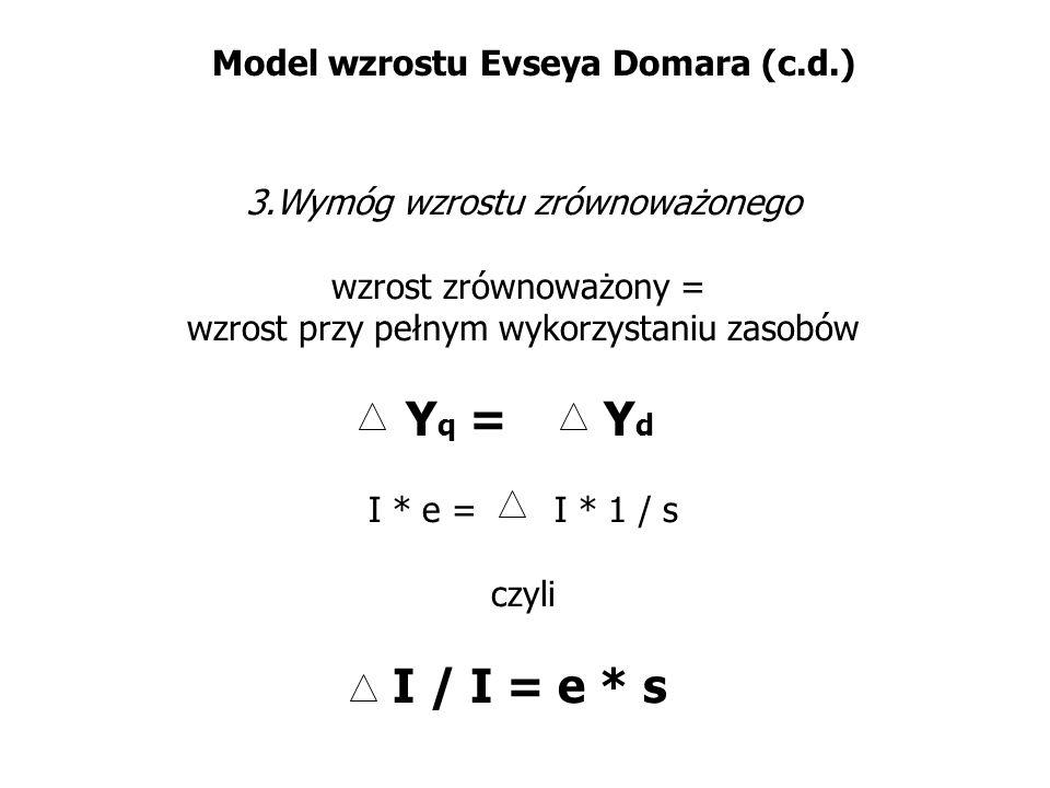 Model wzrostu Evseya Domara (c.d.)
