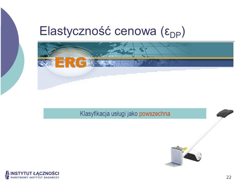Elastyczność cenowa (εDP)
