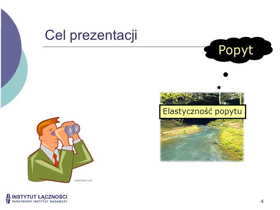 Cel prezentacji Popyt Elastyczność popytu