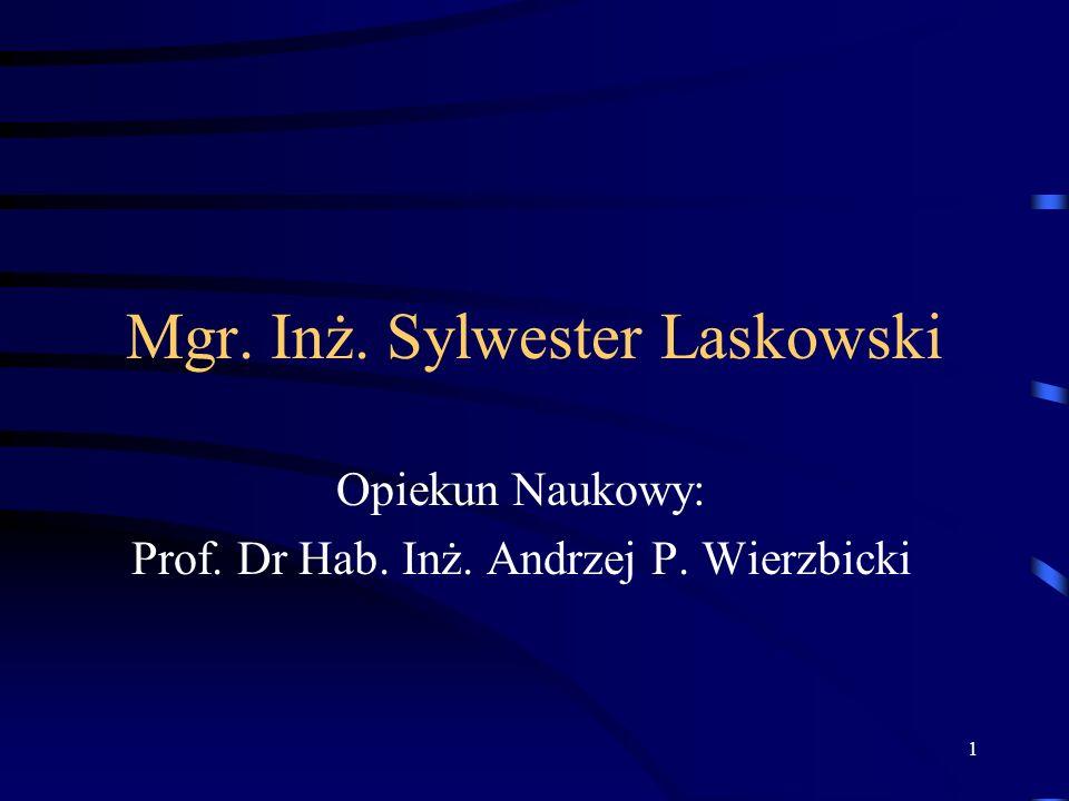 Mgr. Inż. Sylwester Laskowski