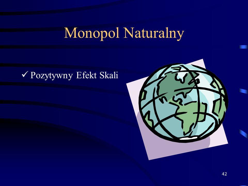 Monopol Naturalny Pozytywny Efekt Skali