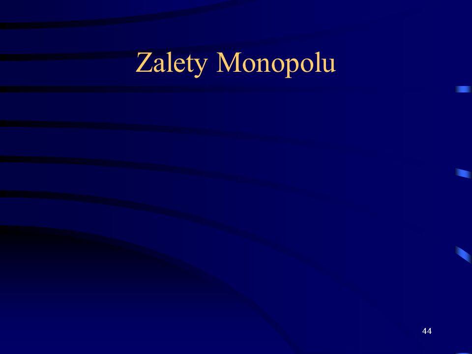 Zalety Monopolu